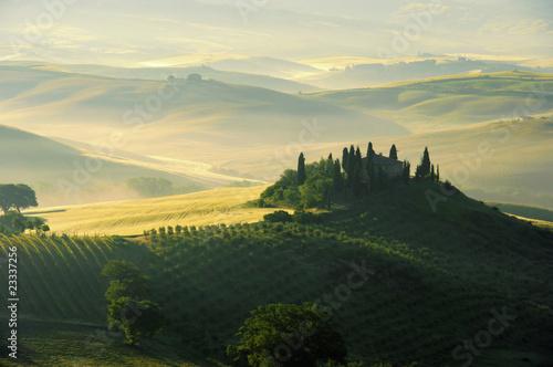 Deurstickers Toscane Toskana Huegel - Tuscany hills 02