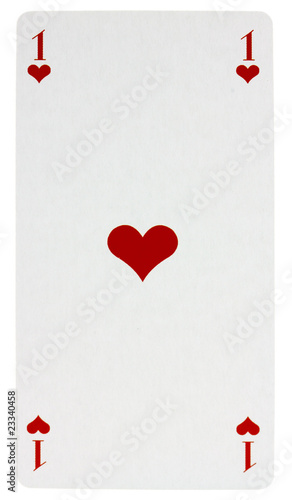 carte as de coeur carte de tarot, as de coeur, fond blanc   Buy this stock photo and