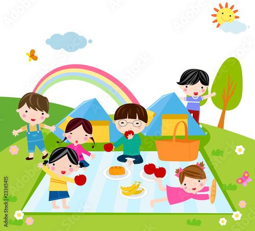 In de dag Regenboog Kids Time