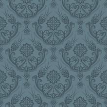 Luxury Seamless Grey Floral Wa...