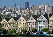 Viktorianische Häuser In San Francisco
