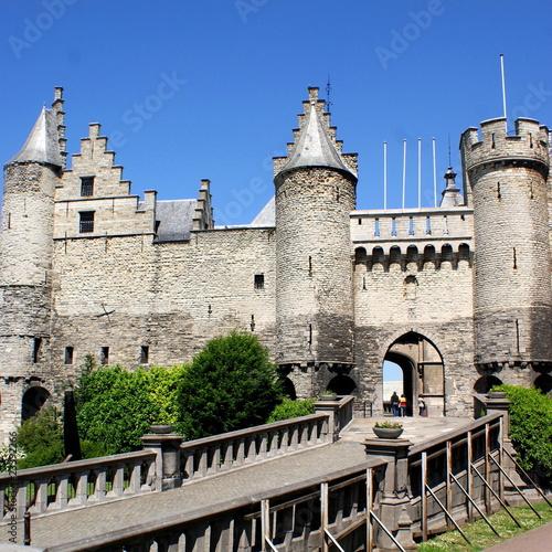 Foto op Plexiglas Antwerpen Mittelalterliche Ritterburg Het Steen in Antwerpen
