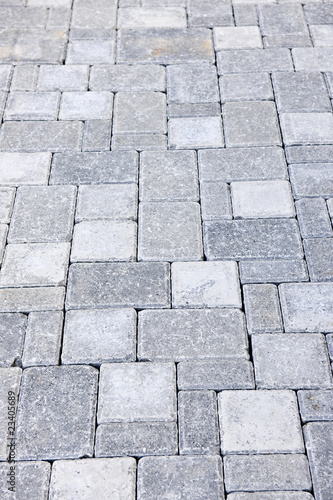 Fotografie, Obraz  Interlocking stone driveway