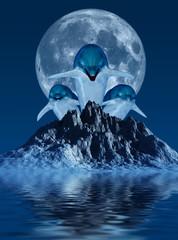 Obraz na Szkle Style Delfine