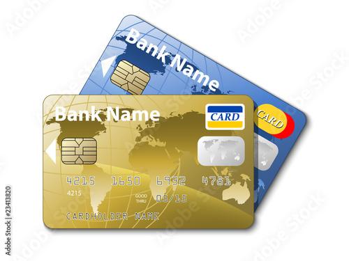 Fotografía  Icon of a credit cards, vector