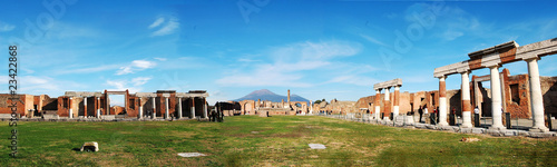 Fotografia Pompeii Ruins Panorama