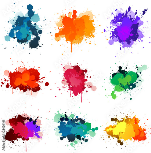 La pose en embrasure Forme Paint splat