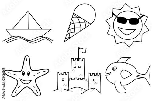 Verano Dibujos Infantiles Para Colorear Buy This Stock Vector