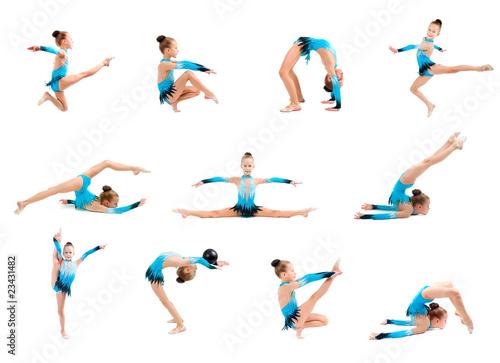 Cadres-photo bureau Gymnastique young girl doing gymnastics