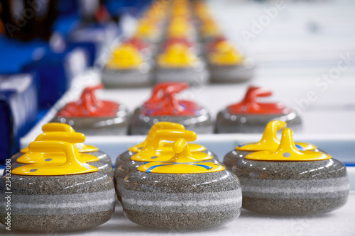 Leinwand Poster Curling stones
