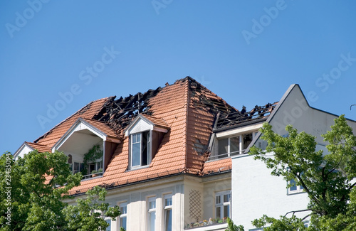 Fotografía  fire roof