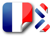 Sticker with France flag