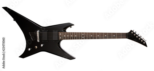 Obraz black electric guitar - fototapety do salonu