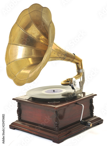 old gramophone Canvas Print