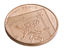 A UK Copper Two Pence Coin Iso...