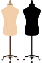 Male Tailors Mannequin And Silhouette