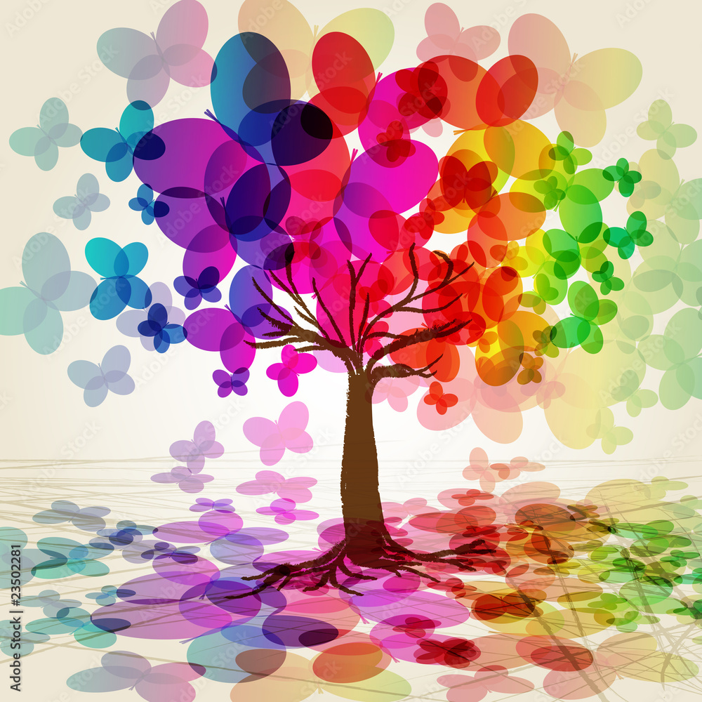 Fototapeta Abstract colorful Tree. Vector.
