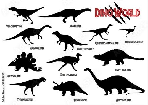 Photo  Dinosaurs silhouettes