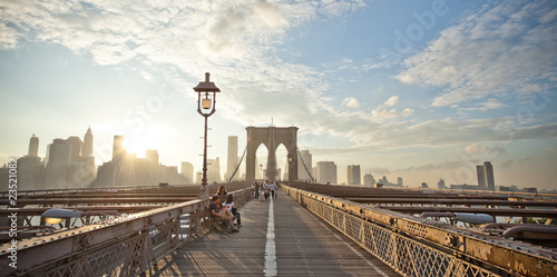Printed kitchen splashbacks Brooklyn Bridge View of Brooklyn Bridge