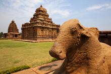 Nandi Statue At Pattadakal Tem...