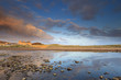 Tranquil sunset over a classic landscape in Scotland