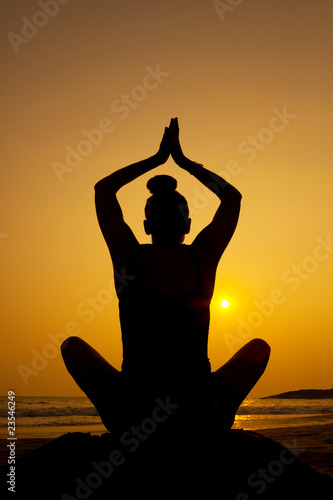 Sunset Silhouette Yoga Pose