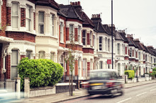 """Terraced Houses And Blured """"Bl..."""