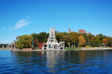 Boldt Castle And Alster Tower In Thousand Islands, New York