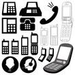 design elements / telephone icon set