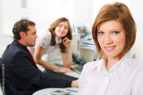 Staande foto Hoogte schaal Young businesswoman.