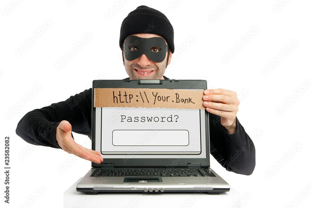 Fototapeta Password thief (phishing)