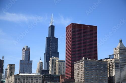 Staande foto Stad gebouw Chicago Skyline