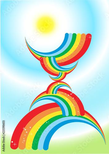 In de dag Regenboog rainbow background