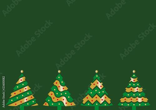 Tarjeta de navidad verde
