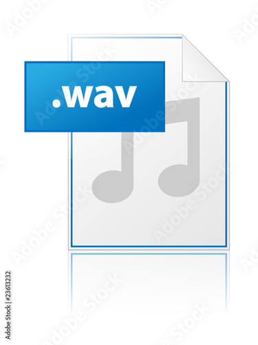 WAV icon (music download file format mp3 mp4 button) - Buy this