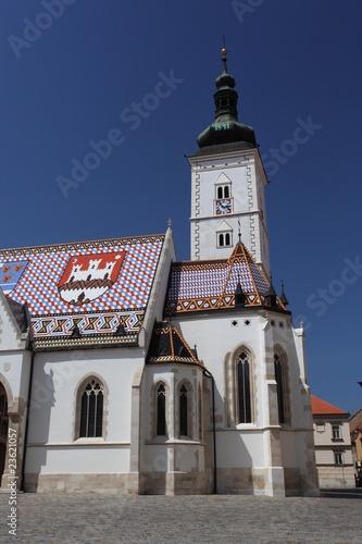 Markus Kirche Zagreb Canvas Print