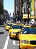 Fototapeta  - Yellow Cabs