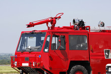 Red Airport Fire Engine