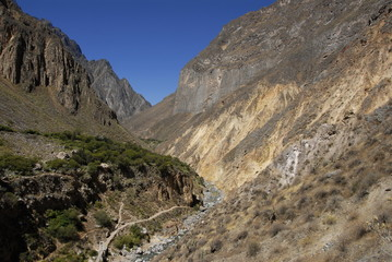 Colca canyon, near Arequipa, from near  the botttom