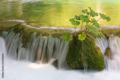 Foto op Canvas Watervallen Waterfall, Plitvice lakes National Park, Croatia