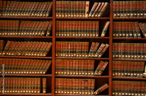 Poster Bibliotheque Law book library
