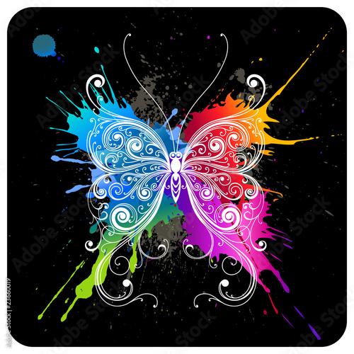Photo sur Toile Papillons dans Grunge Butterfly