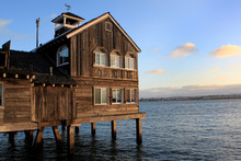 Old Wooden House On Sea