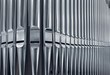 canvas print picture - Organ pipes close
