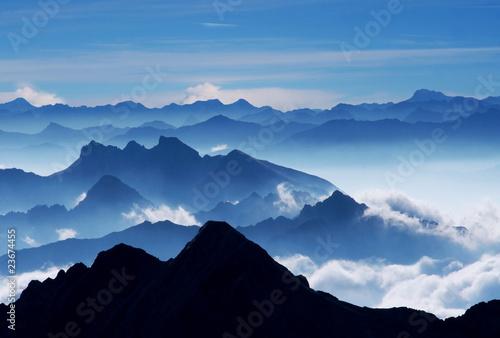 Fotografie, Obraz  Traumpanorama (Blick von Zugspitze)-View from Mt Zugspitz