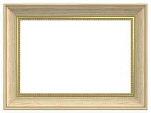 Cedar Rectangular Frame Isolated On White Background.