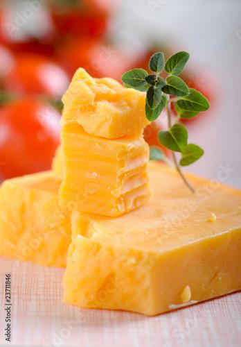 Garden Poster Juice cheddar käse und oregano