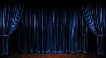 Blue Sparkling Curtains