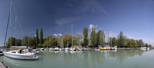 Fototapeta na wymiar Small Harbour at the Balaton