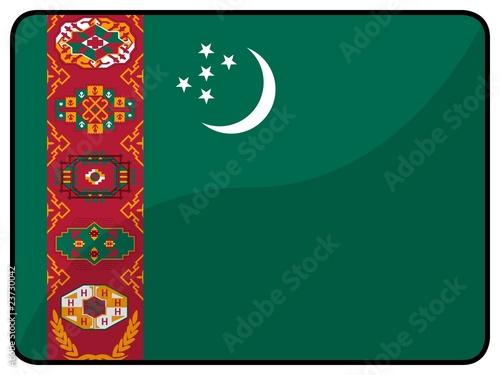 drapeau turkmenistan flag Canvas Print